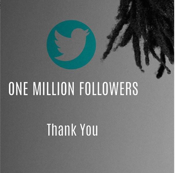 EL hits 1million followers on twitter