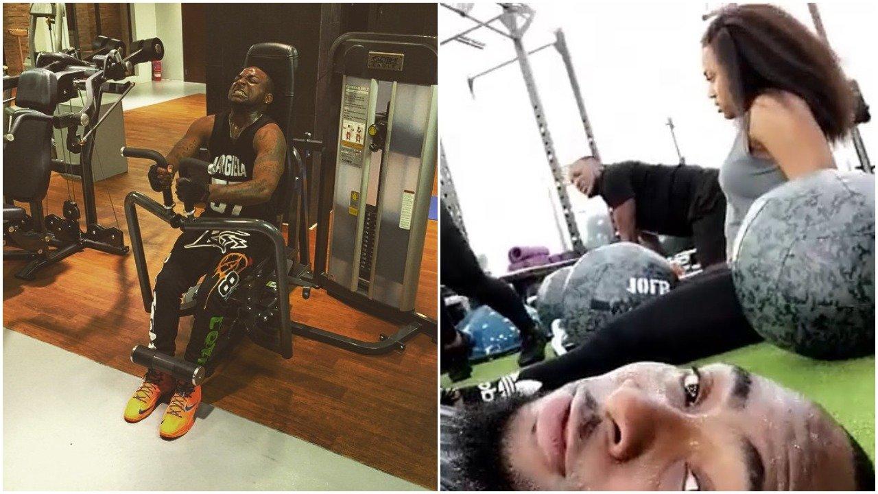 Davido Sweats It Out At The Gym