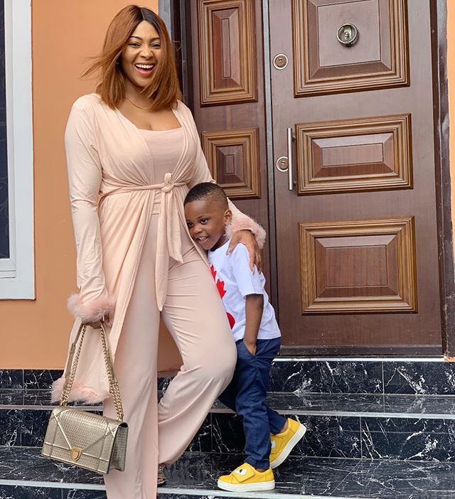 Lilian Esoro with her little son