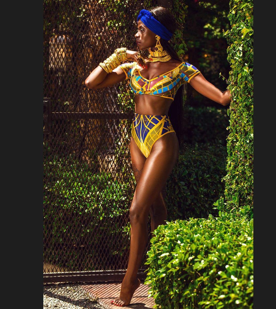 Bbnaija Star Khloe Breaks The Internet , Slays In Multicolored Swimsuit