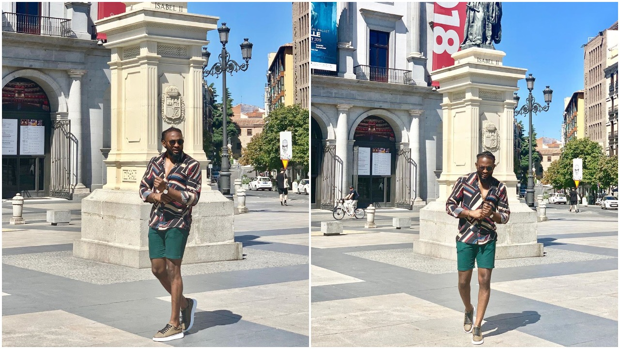 I am an Alien, am also Naija Man-Photos of Uti Nwachukwu catching Fun in Madrid