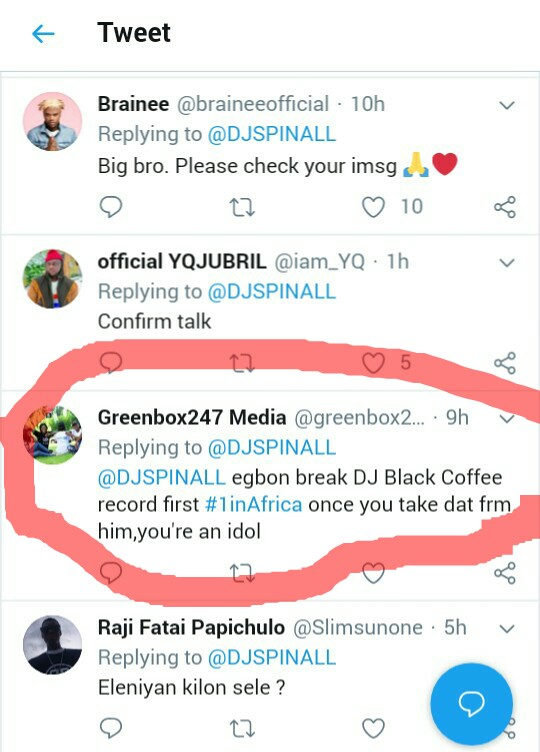 Fans shocked DJ Spinall on Beyonce album 1