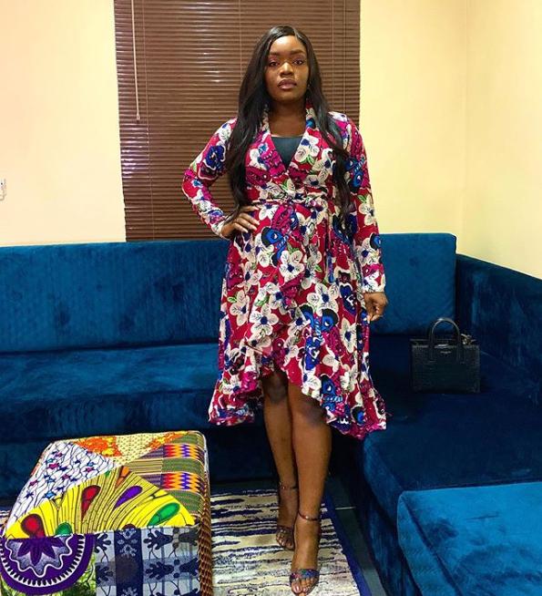 Bisola Aiyeola look flawless in Ankara Dress