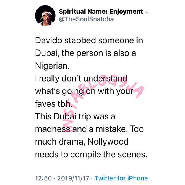 Davido allegedly arrested in Dubai