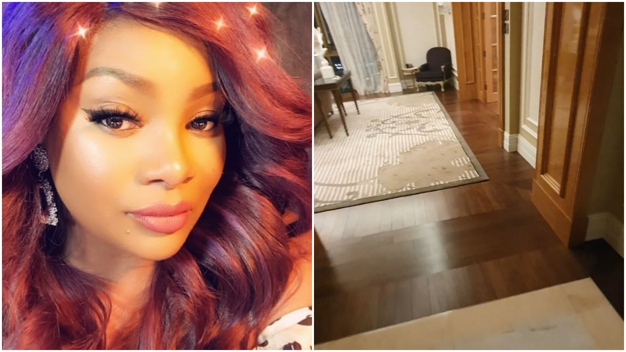 OAP Toolz Arrives in Dubai, Shows of her & Star her hotel room (Video)
