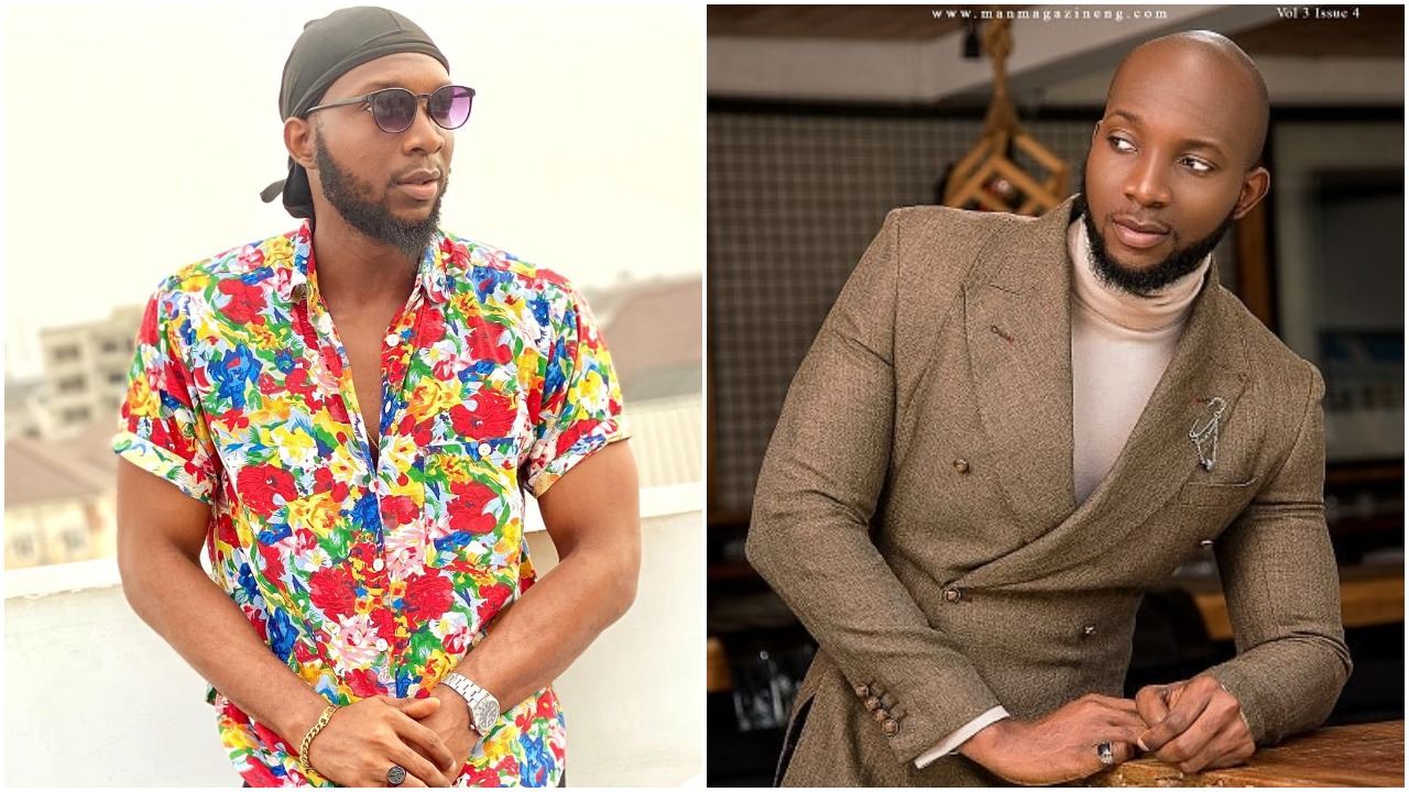 Tuoyo allegedly wears a torn pant trouser for a photo shoot