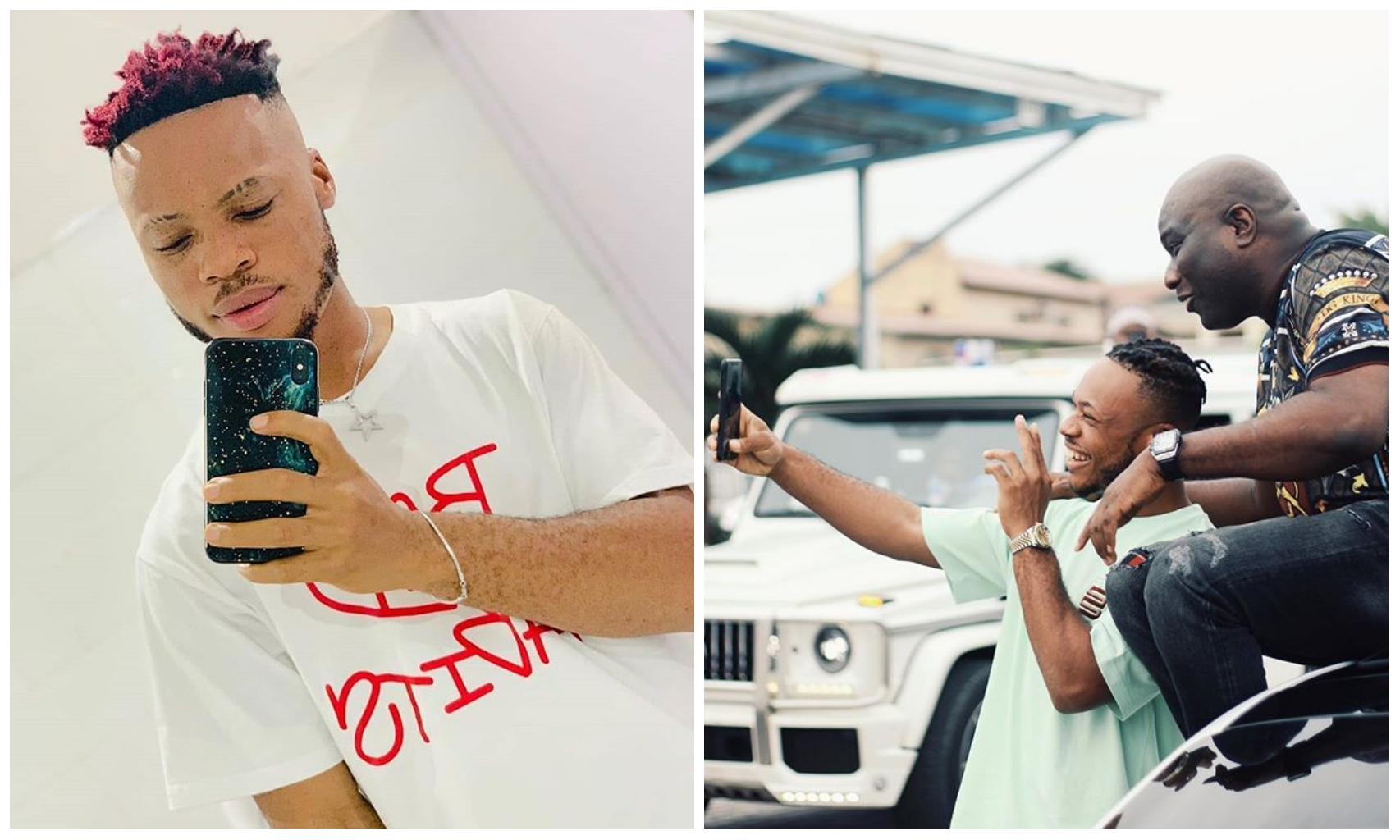 Poco Lee spotted having a nice chat with billionaire Mompha (Photos)