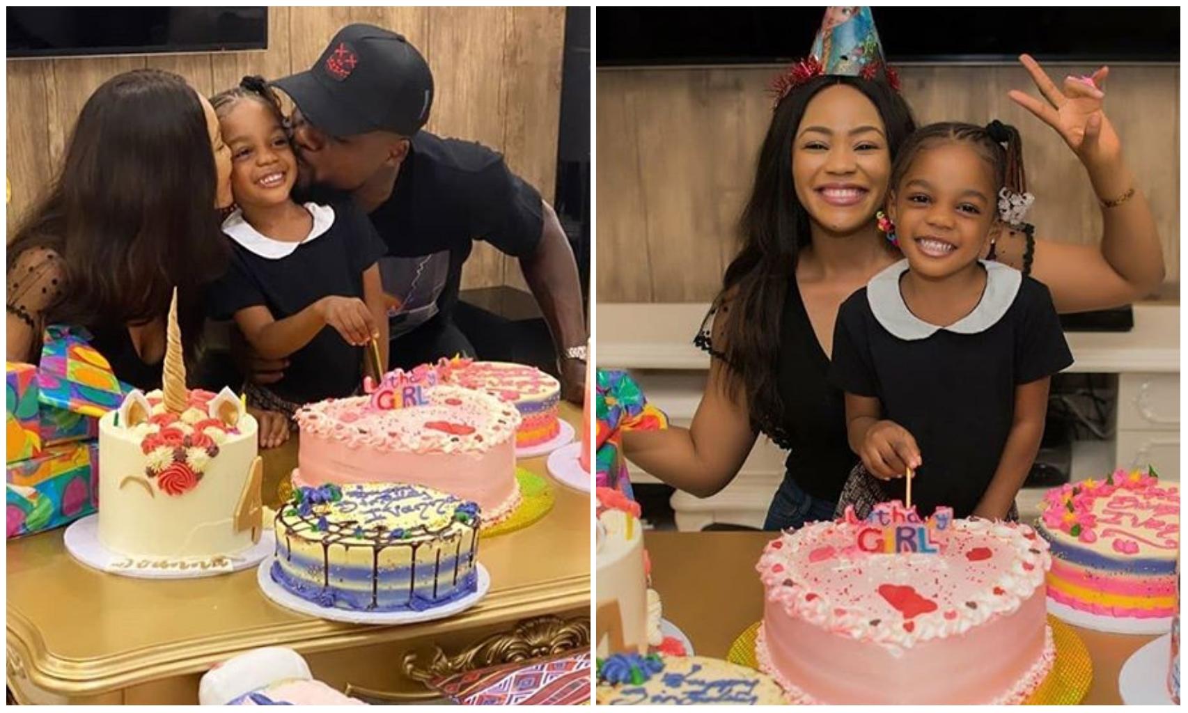 Suepr Eagles star, John Ogu and ex-wife reunites to celebrate daughter's birthday (Video/Photos)