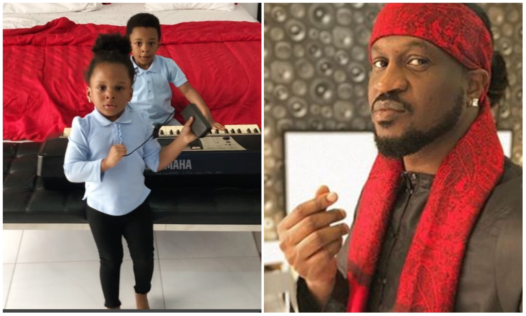 Paul Okoye shares adorable video of his children showcasing their music talents
