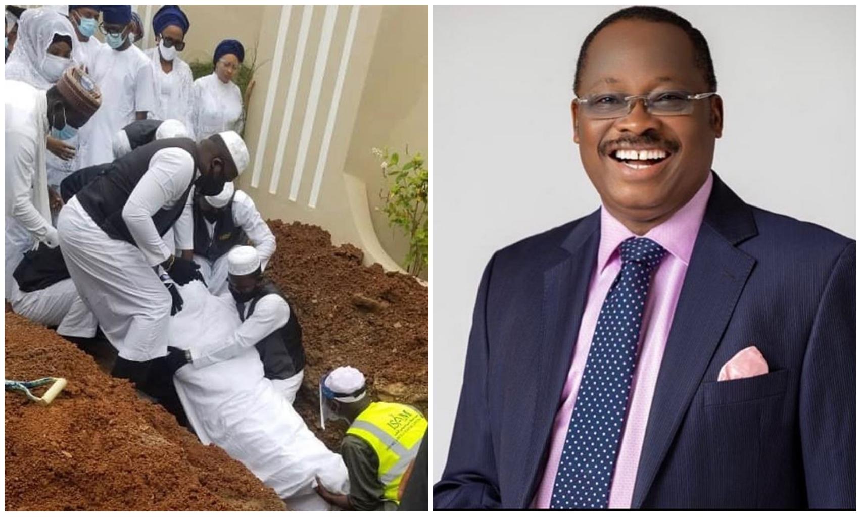 'Constituted authority RIP' – Nigerians reacts to Abiola Ajimobi's burial (Photos)