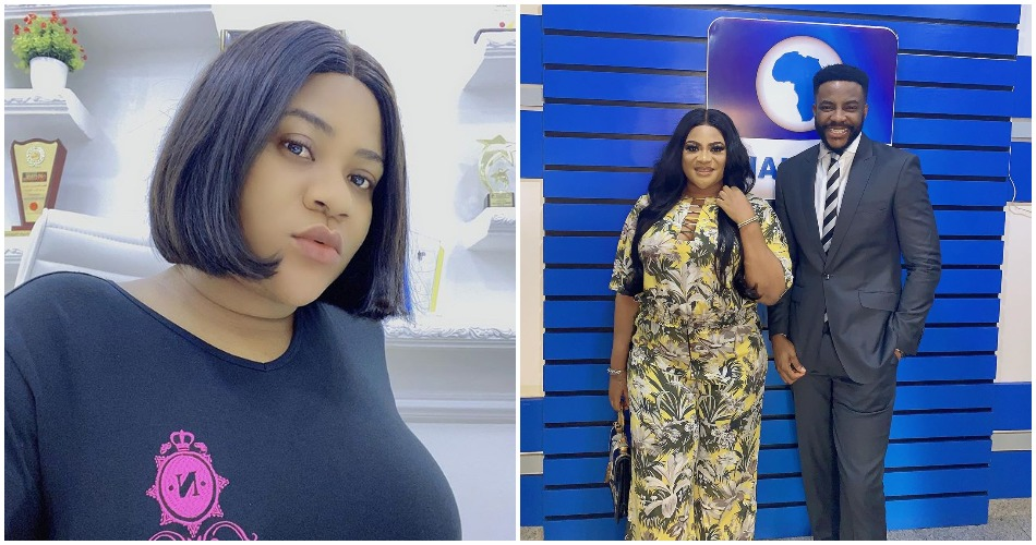 Nkechi Blessing blushes as she get featured on Ebuka's Rubbin Mind