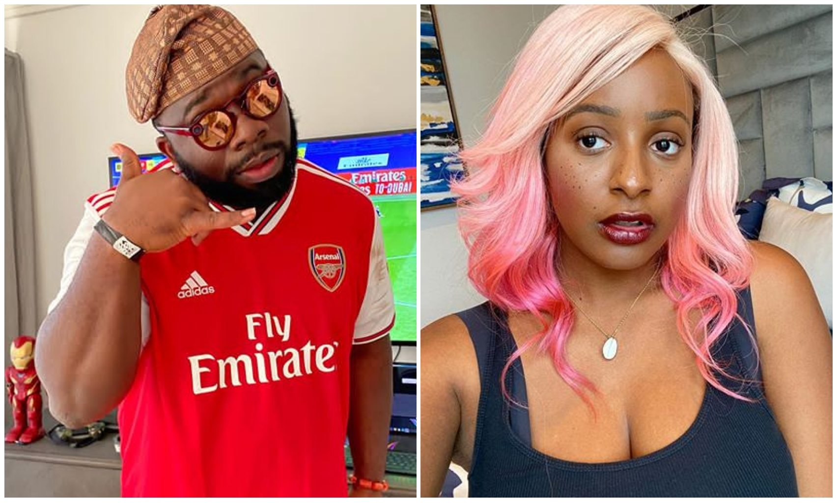 Hope you can still eat Jollof – Sport Analyst Kelechi Anyikude trolls DJ Cuppy as Man United face defeat (Photo)