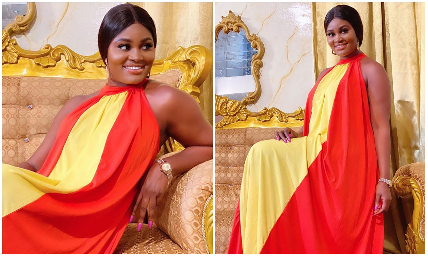 Chizzy Alichi dish out fashion goals, steps out in adorable two piece outfit (Photos)