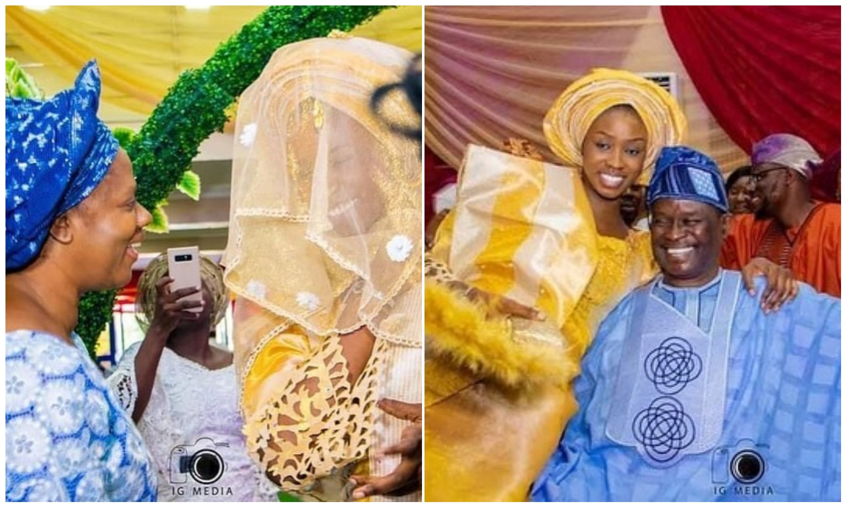 Mike Bamiloye's daughter, Darasimi Weds longtime fiancee, Lawrence (Photos)
