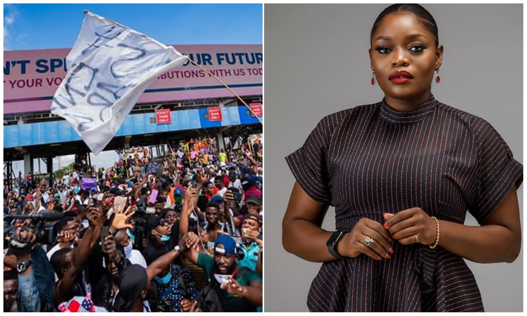 #EndSars: Don't loose focus by turning the protest to carnivals – BBN star, Bisola advises protesters